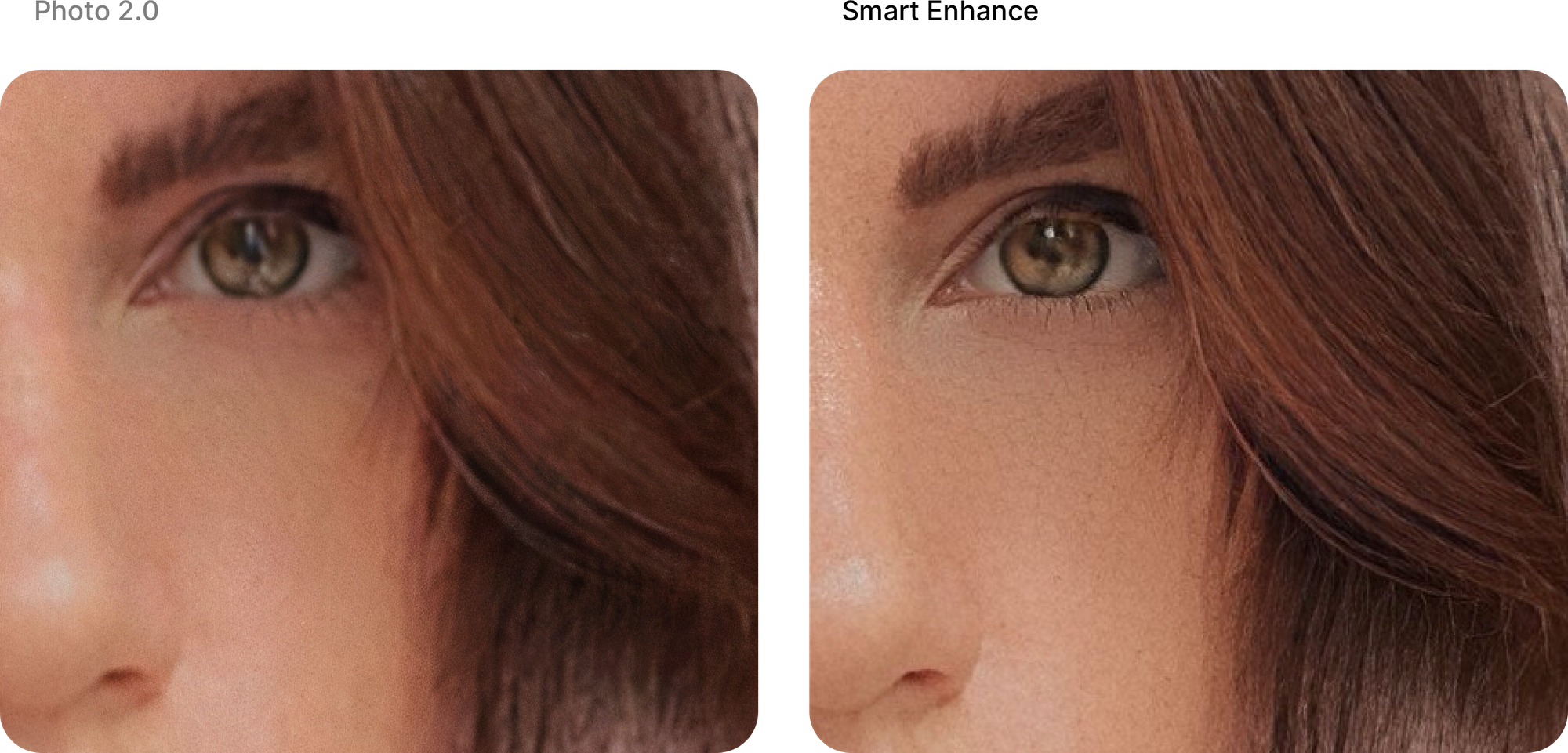 Comparison between Photo 2.0 and Smart Enhance